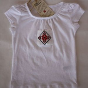 T-shirt for girls with applied traditional motifs - Ardeal