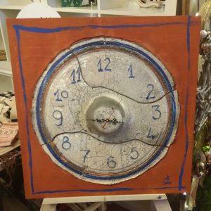 Ceas din ceramică - RAKU