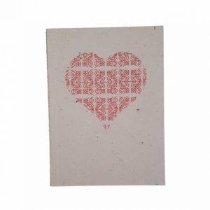 Carnet de însemnări cu motiv tradiţional din Vlaşca (inimă)