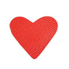 Brosă ceramică în formă de inimă